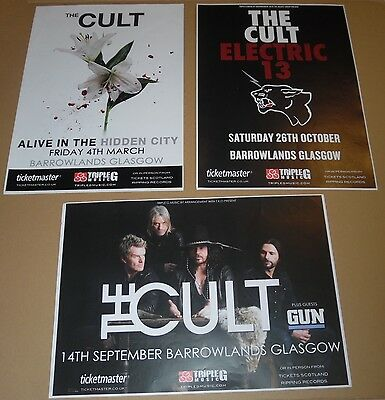 The Cult POSTERS - collection of 3 tour concert / gig poster