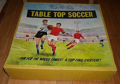 VINTAGE TUDOR ROSE SOCCER FOOTBALL GAME RARE 1960's BOXED TINPLATE TOY
