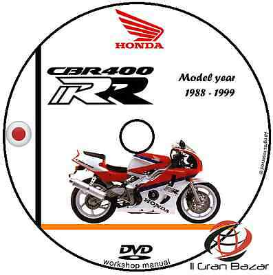 Manuale Officina Honda Cbr 400 Rr My 1998 - 1999 Workshop Manual Service Cd Dvd