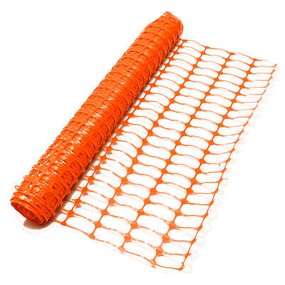 1m x 50m Orange Plastic Safety Barrier Mesh Fencing Net Events, Garden, Projects