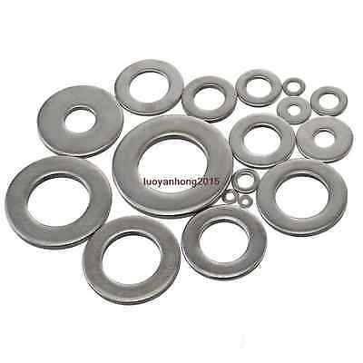 M3 M4 M5 M6 M8 M10 M12 Flat Washers For Metric Bolt&Screw A4 316 Stainless Steel