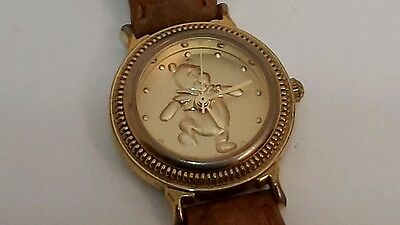 Winnie the Pooh gold coin style womens watch