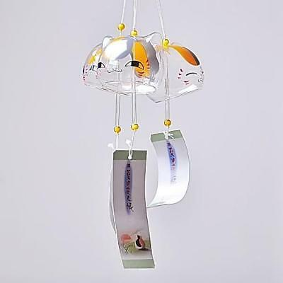 Japenese Cat Lucky Wind Chime Hanging Glass Bell Best Xmas Gift Home DIY Decor#3