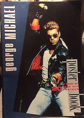 Vintage George Michael Poster Book. 1986. 20 Tear Out Posters. 16x12. Complete!