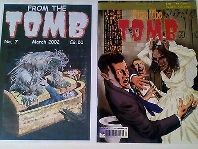 FROM THE TOMB x 2 ISSUES LOT. HORROR COMICS FANZINE.