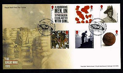 GB 2015 Royal Mail WW1 1915 First Day Cover  Unaddressed