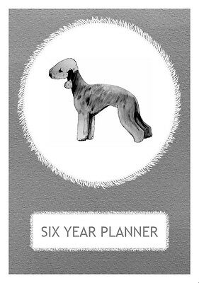 Bedlington Terrier Dog Show Six Year Planner/Diary by Curiosity Crafts 2017-2022