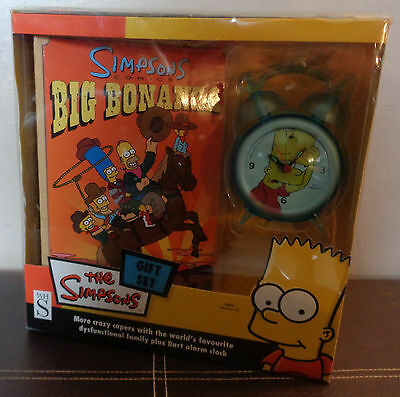 WH Smiths The simpsons comic book and Bart Alarm Clock Gift Set. NEW BOXED