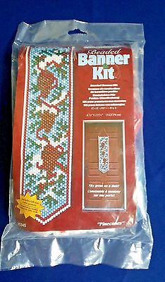 The Beadery Beaded Banner Kit Pinecones New
