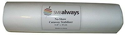 "No-Show Cut Away Stabilizer Backing, 11.8"" by 20 yards, by SMB Always"