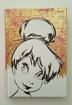 """NEW Disney TINKERBELL Hardcover Writing Journal 112 Sheets and 5.75"""" x 8.25"""""""