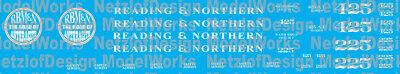HO Scale - Reading & Northern Steam Locomotives (2015+ Paint)