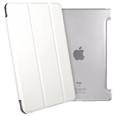 Smart Magnetic Leather Cover Back Case Stand For APPLE iPad 4 mini White