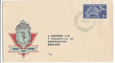Z5024 APO First Day Cover Royal Flying Doctor Service of Australia 21 Aug 1957