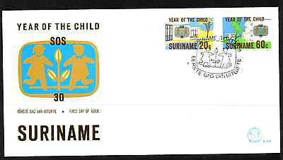 Suriname 1979 Fdc – Year Of The Child #a0764