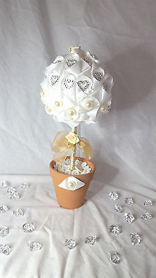 Ribbon Topiary Tree, Wedding, Christening, Table Decor, Centerpieces