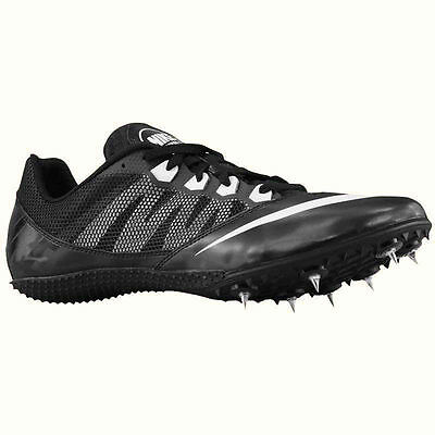 NEW mens NIKE ZOOM RIVAL S 7 Track Spikes Shoe Black White US 10.5 EUR 44.5