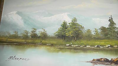 Original Oil on Canvas Painting. A Mountain Lake