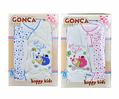 Newborn Baby 5 Piece Sets Box Gift Set For Boys / Girls, Pink Or Blue, 0-3 Month