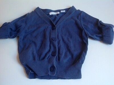 Country Road Blue Cardigan, Cute Sleeves, Girls Size 12-18 Months