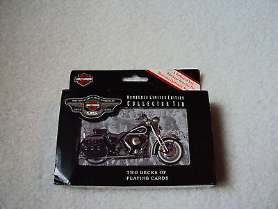 Harley-Davidson two deck tin of playing cards