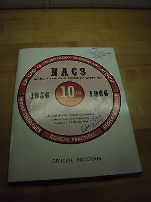 National Association Of Cosmetology Schools 1956-1966 Official Program
