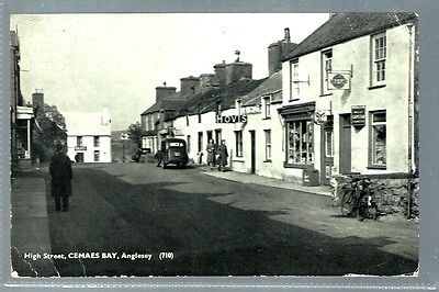historical postcard High street Camaes bay Anglesey Wales (L2080)