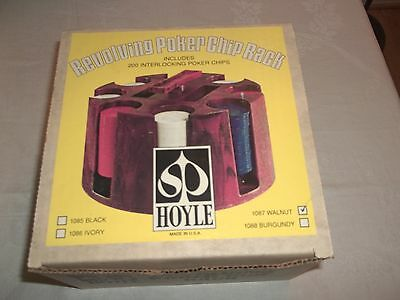HOYLE Revolving Poker Chip Rack with Box