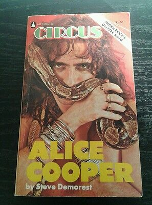 Alice Cooper Circus pocket book 1974 Steve Demorest very rare with photos Metal