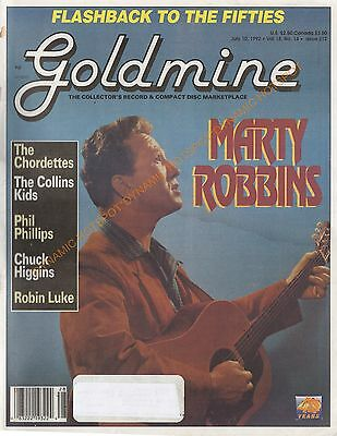 GOLDMINE Record  Magazine July 1992 -THE FIFTIES,Marty Robbins,Phil Phillips VG+