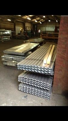 14Ft (4.2m) Metal Galvanised Tin Corrugated Roofing Sheet cladding