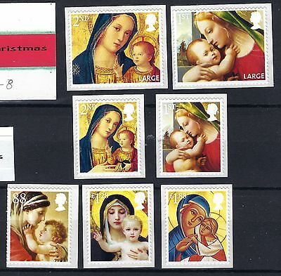 Gb 2013 Christmas Madonna And Child S/a Full Set Mnh Post Free To The Uk.
