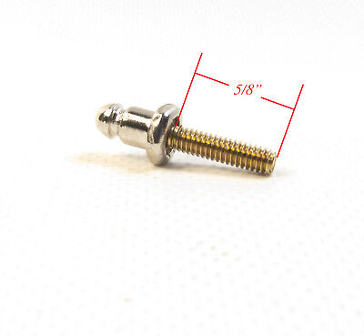 "Lift The Dot Stud Nickel Brass with a #8-32 5/8"" Brass Machine Screw , 10 Pc."