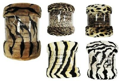 Luxury Animal Skin Fur Throw, Faux Fur Throw, Fleece Blanket Sofa/Couch/Bed New