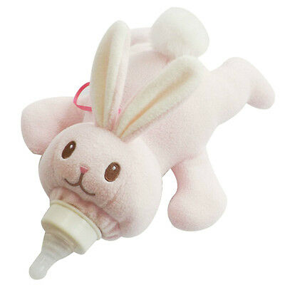 Baby Animal Holder Storage Bag Pouch Cover for Milk Bottle(Pink Rabbit) 05CF