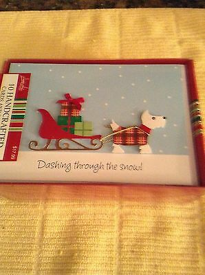 Scottie Dog Christmas Cards in box 10 Cards Image Arts /Handcrafted