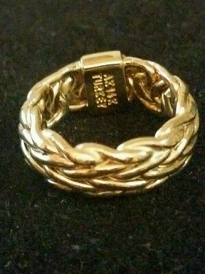 14k yellow gold woven band ring,  size 6,  2.8 grams