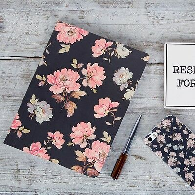 French Rose Vintage Floral A5 Notebook Blank Journal Gift Jotter Sass