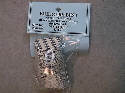 "Bridgers Best Dry Pillow Ticking Patches 60-69 Caliber .018"" Thick Stk# 6018-P"