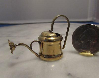 Dollhouse Miniature Watering Can in Brass