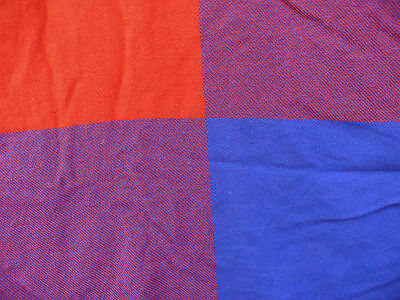 """Two Virgin Atlantic Airline Throw Blankets Red Color Block  50 1/2"""" x 37 1/2"""""""