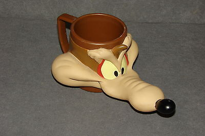 Looney Tunes: Wile E Coyote Plastic Mug Cup 1992