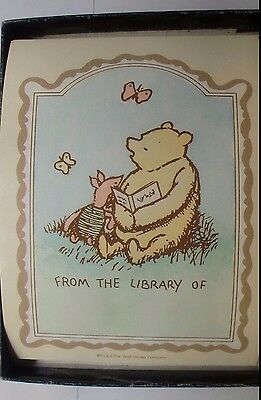 """Winnie The Pooh 29 Bookplates """"From the Library .."""" DISNEY Hatfield PA EX LIBRIS"""
