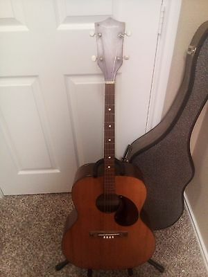1960s Kay Silvertone N3  Tenor Acoustic Guitar with case        Made in  U.S.A