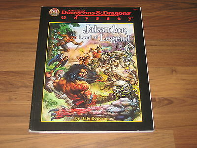 AD&D 2nd Edition Odyssey Jakandor, Land of Legend Adventure TSR 9472 + Map