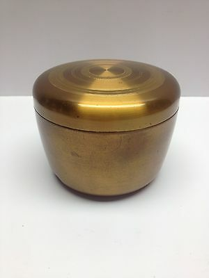 Vtg Elgin American Brass Tone Music Box Powder Compact Morgenblatter Not Working
