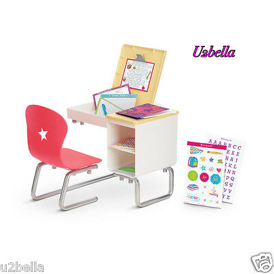 NEW TRULY ME American Girl School Desk set flip top WITH ACCESSORIES NEW