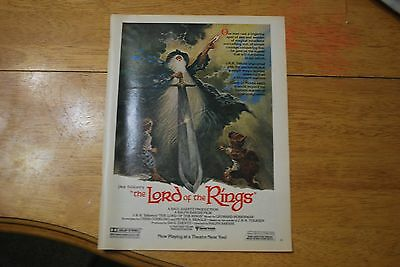 JRR Tolkien's The Lord of the Rings Movie 1979 Playboy Magazine ad - Excellent
