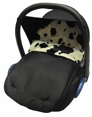 Graco Fit Animal Print Padded Car Seat Footmuff / Cosy Toes Junior/Logico Cow