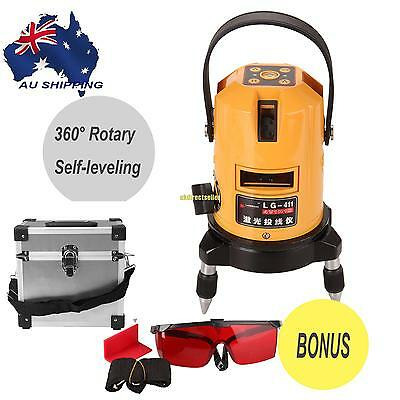 Automatic Self-leveling 6 Point 360 ° Rotary Laser Level Cross Line Red Beam